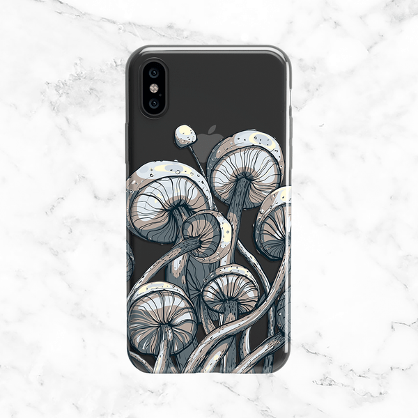 Wild Shrooms Phone Case - Clear TPU Phone Case