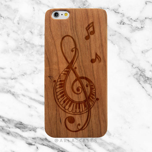 Music Note on Wood iPhone Case