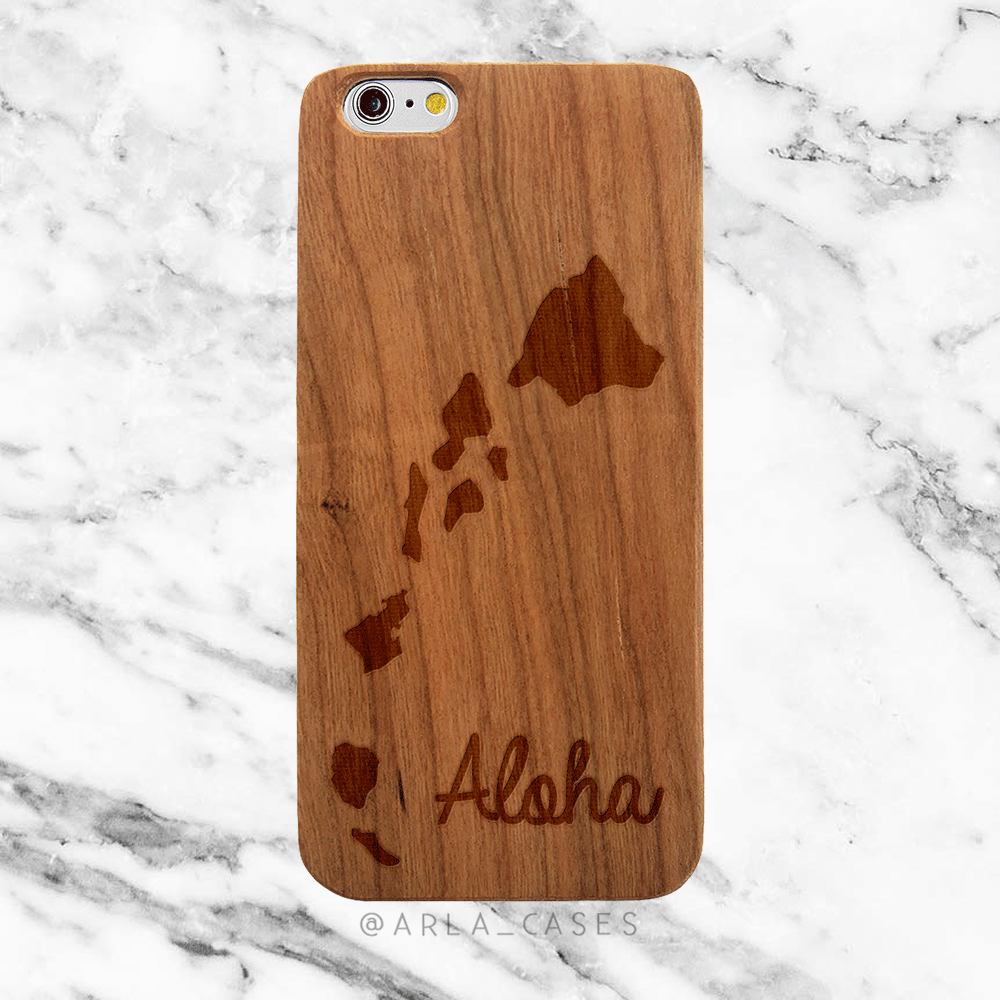 Hawaii Aloha Wood iPhone and Galaxy Phone Case