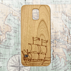 Sail boat wood iPhone and Galaxy Phone Case