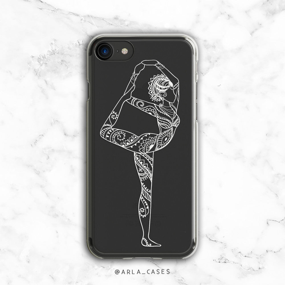 Dancer Pose White illustration Phone Case - Clear TPU