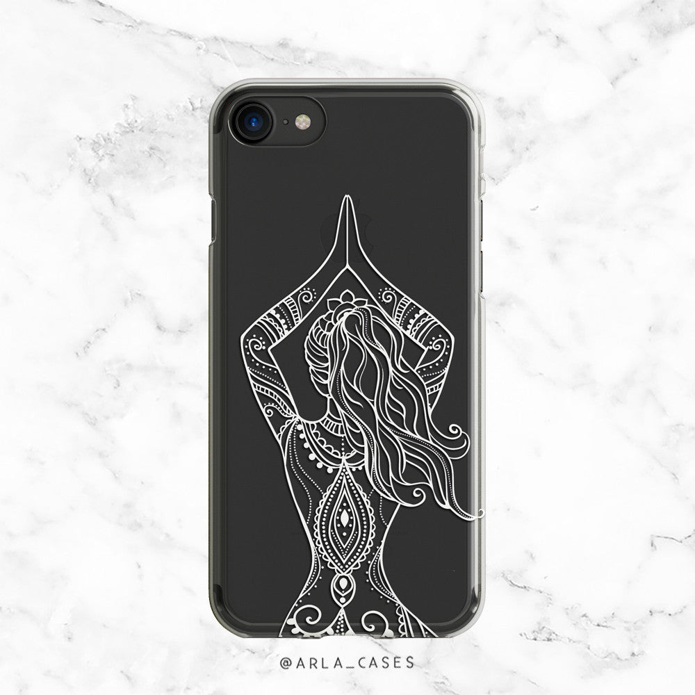 Yoga Pose Clear iphone Case