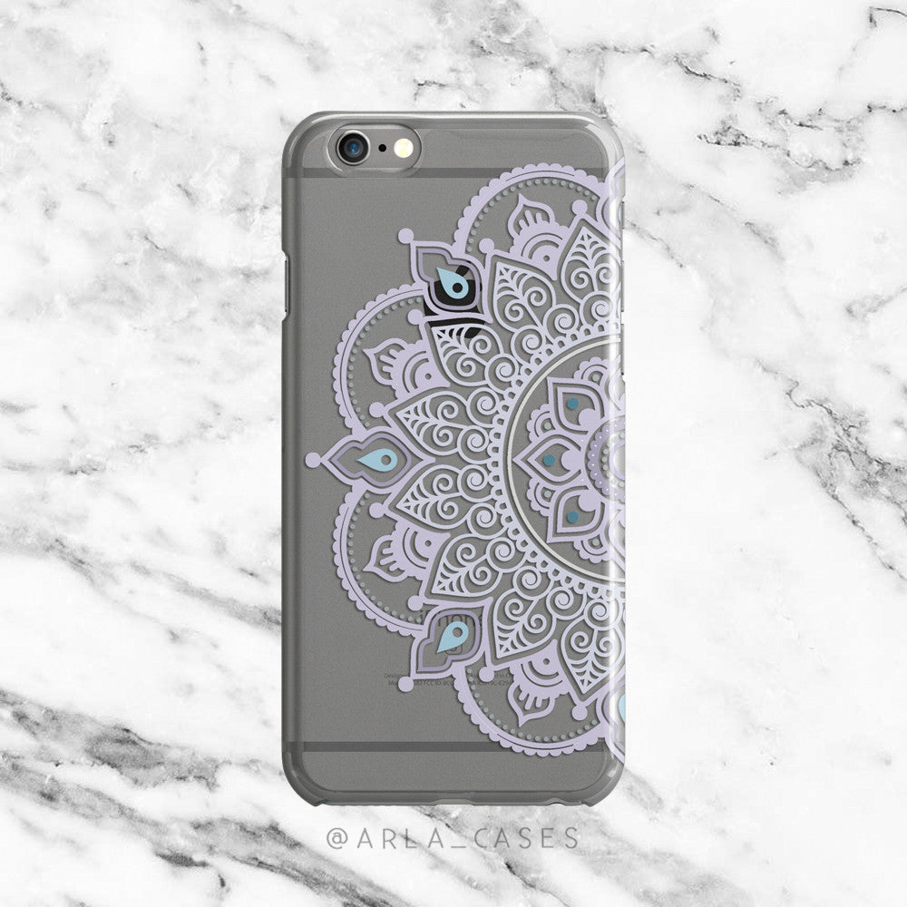 Lavender Henna Mandala iPhone Case