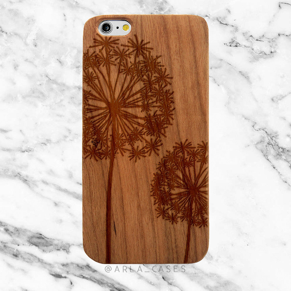 Dandelions on Wood iPhone Case