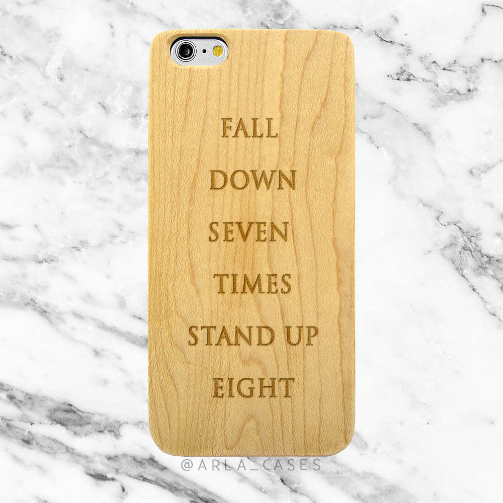 Inspirational Quote on Wood iPhone Case