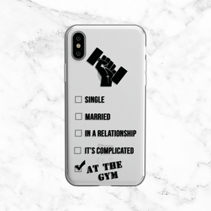 In a Relationship with the Gym - Clear TPU Phone Case