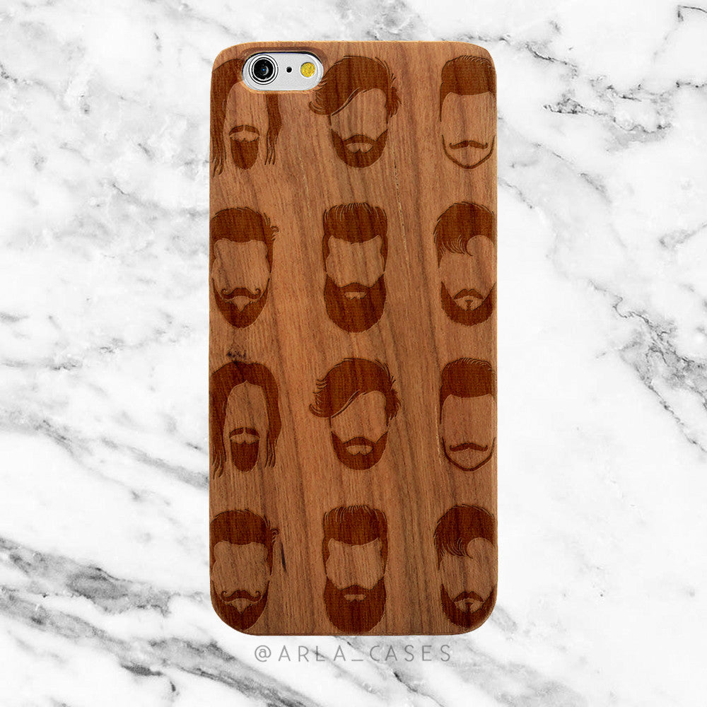 Beards on Wood iPhone Case