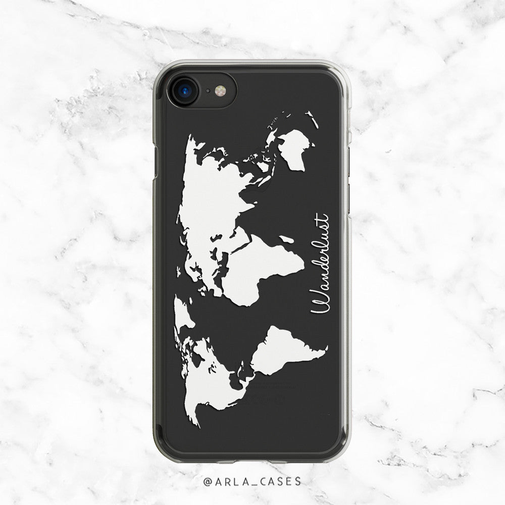 Wanderlust Travel Clear iPhone Case