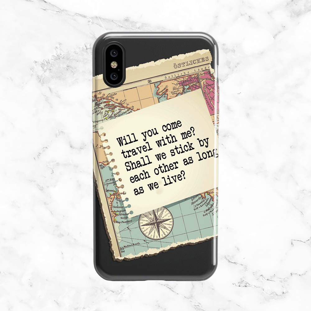 Walt Whitman Love and Adventure Quote Phone Case - Clear TPU