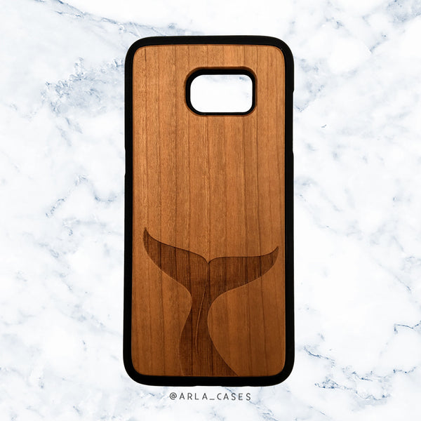 Whale Tail Wooden Phone Case