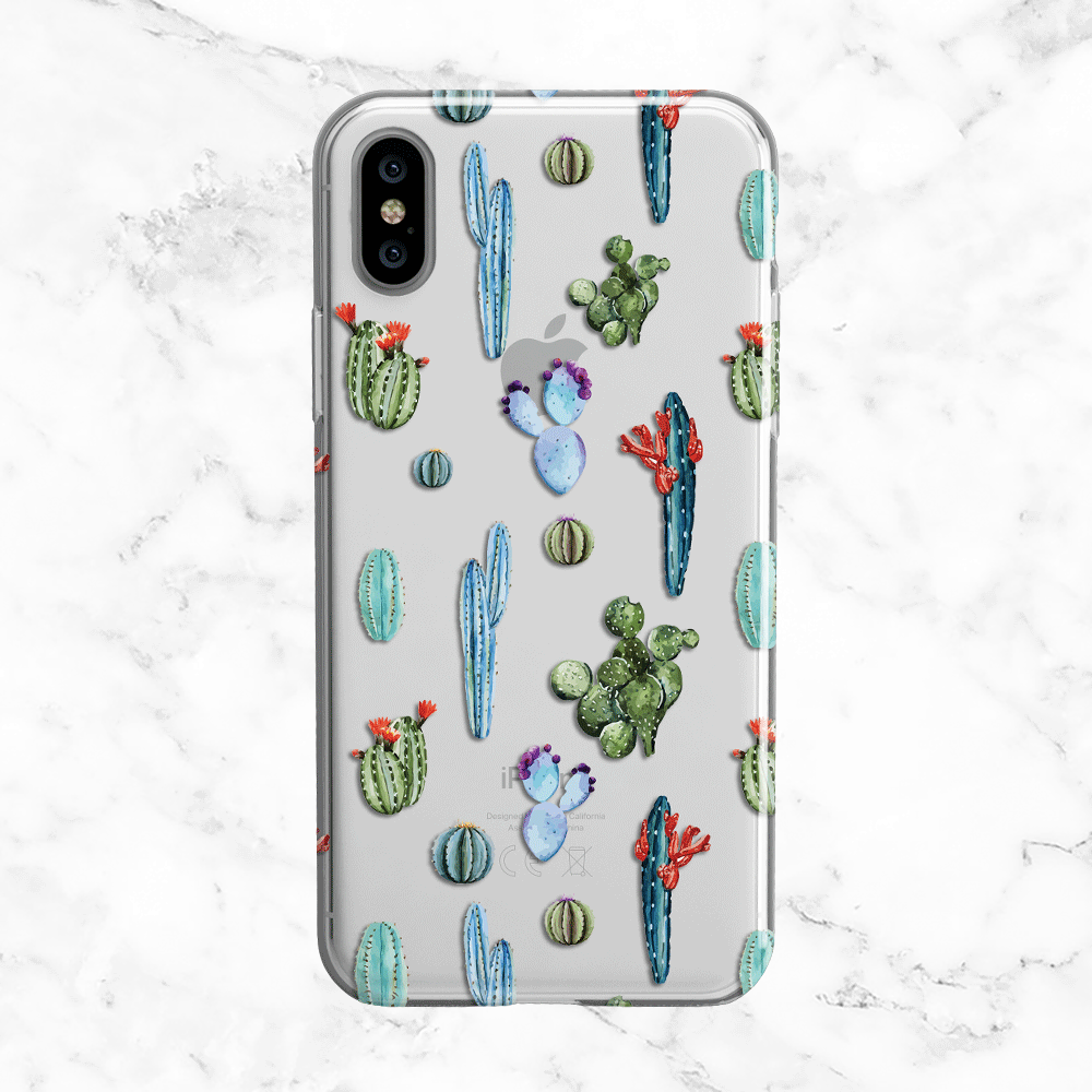 Watercolor Cacti and Succulents Pattern Phone Case
