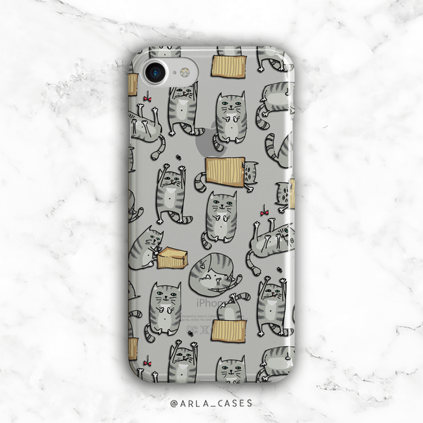Cats Out of the Bag - Clear Phone Case