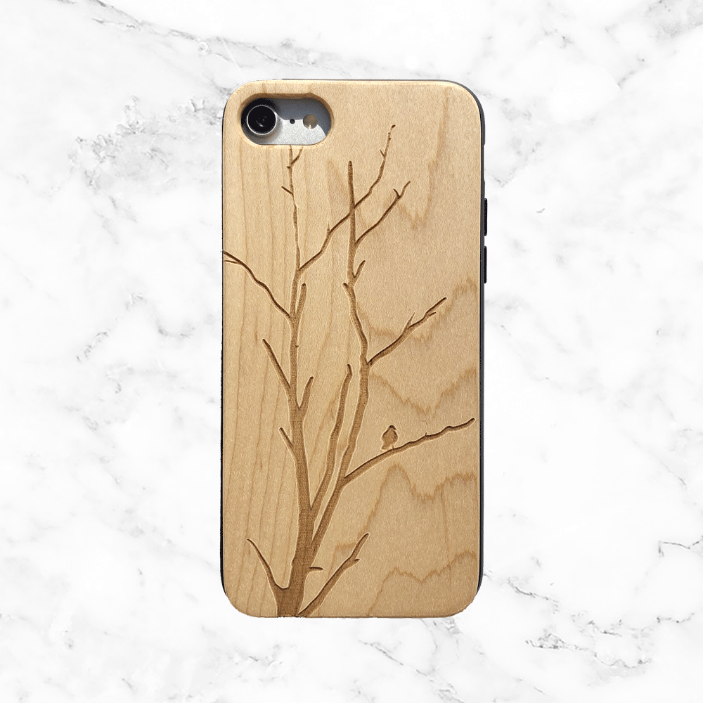 Winter Tree Wood Phone Case - Nature Design Wood iPhone and Galaxy Case