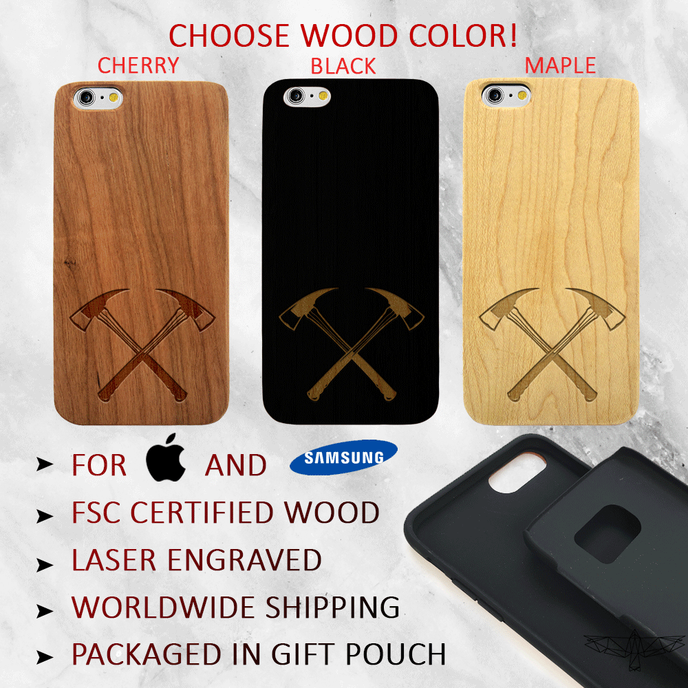 Firefighter Axe Wood Phone Case - Wood iPhone and Galaxy Case