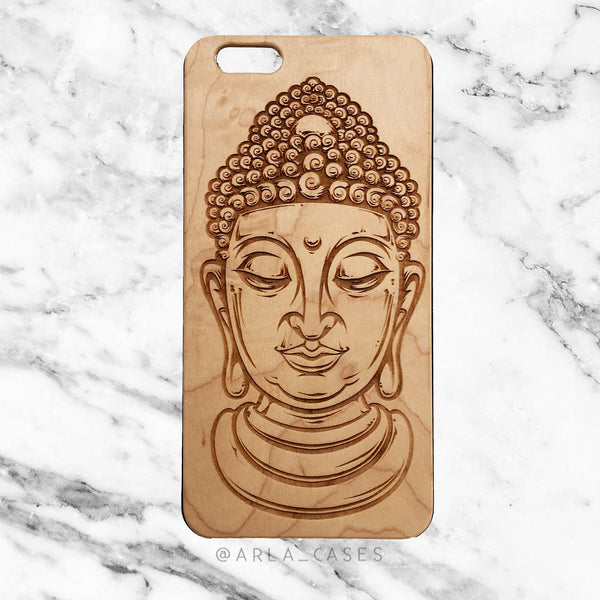 Buddha on Wood iPhone Case