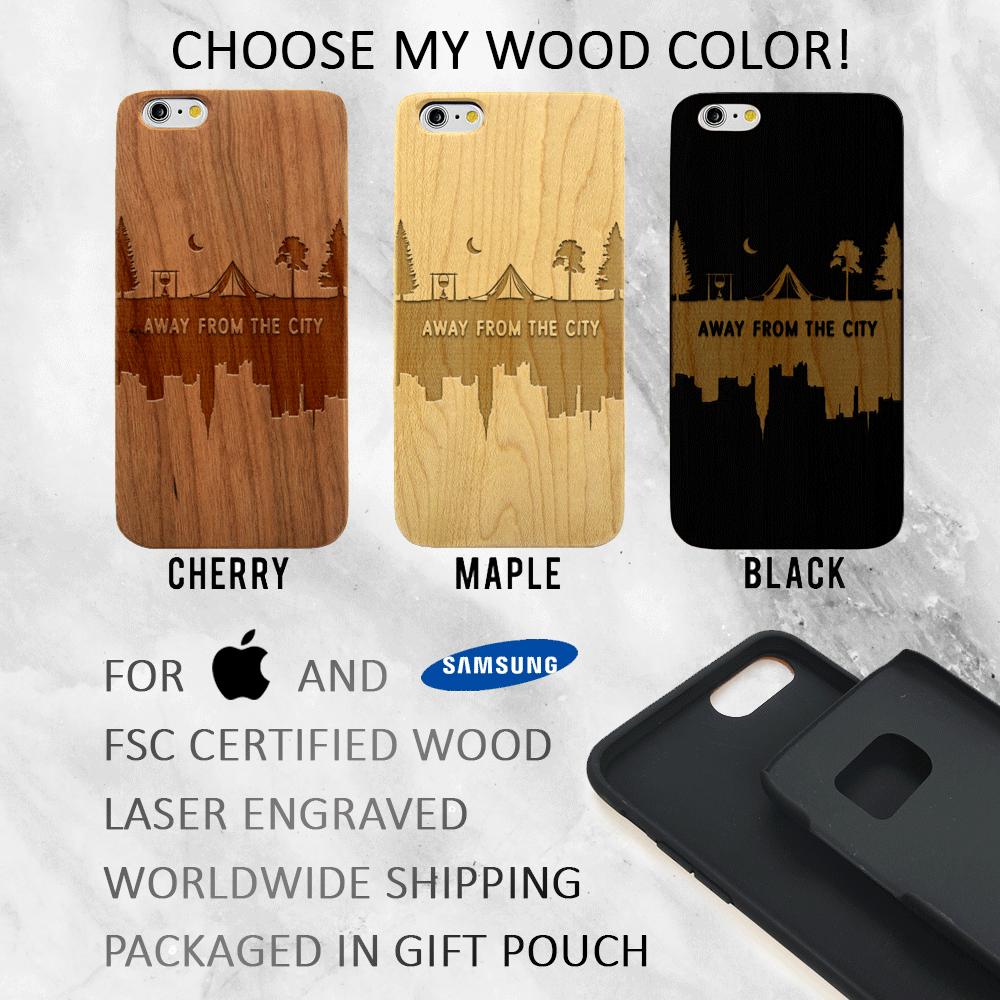 Away From The City - Wood Phone Case