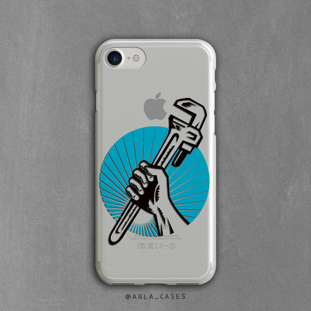 Handy Man Wrench Clear iPhone Case