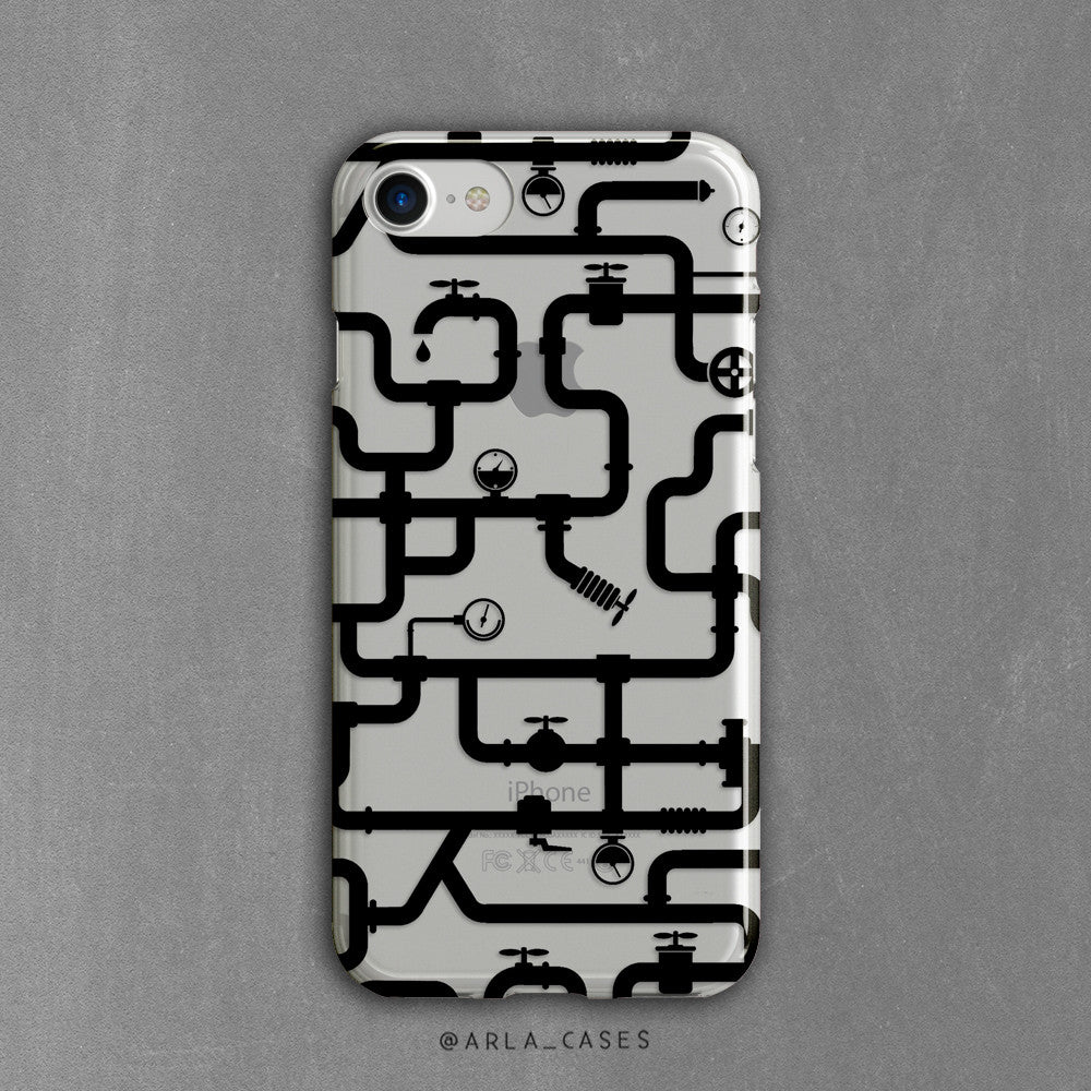 Water Pipes Clear iPhone Case