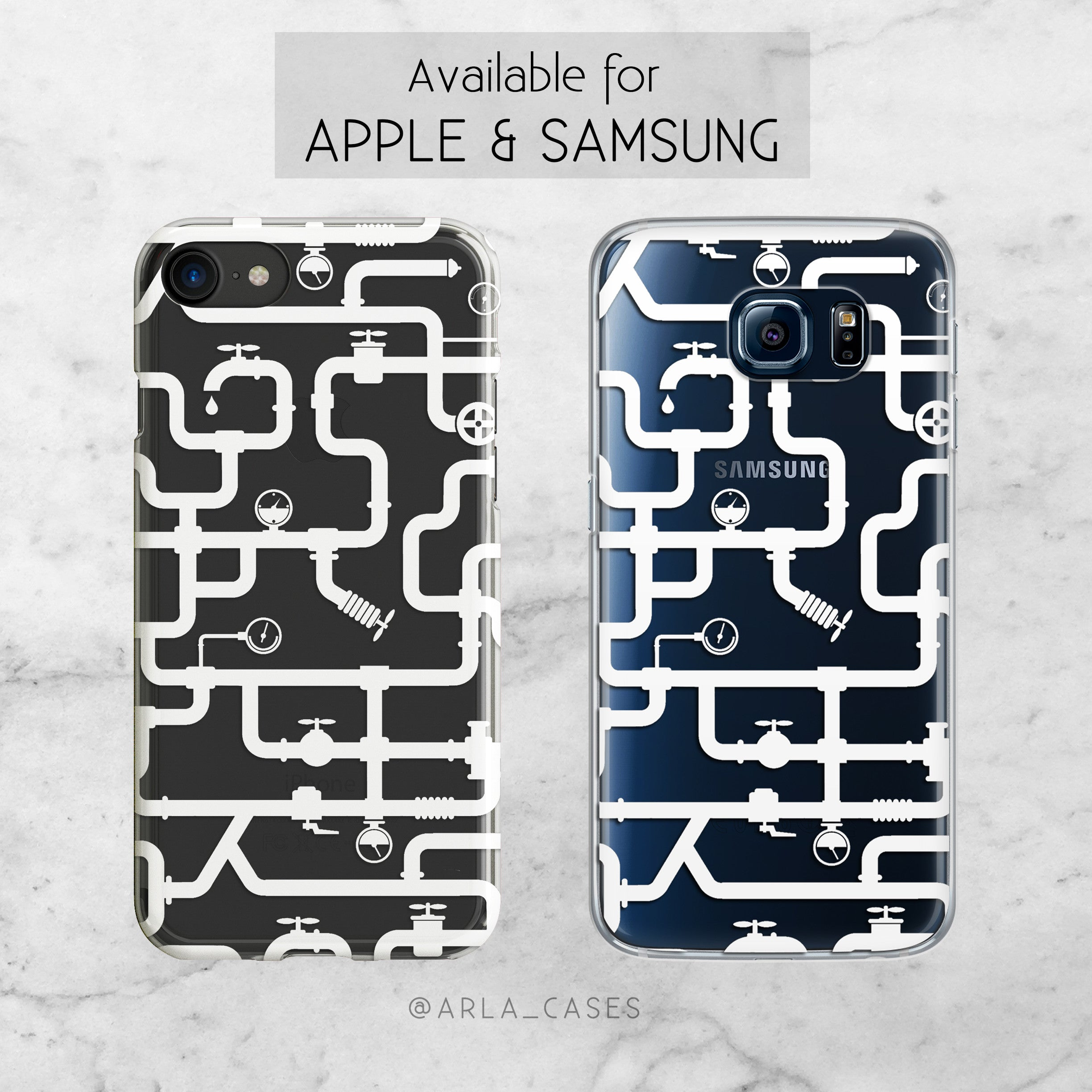 Water Pipes - iPhone and Galaxy Clear TPU Case