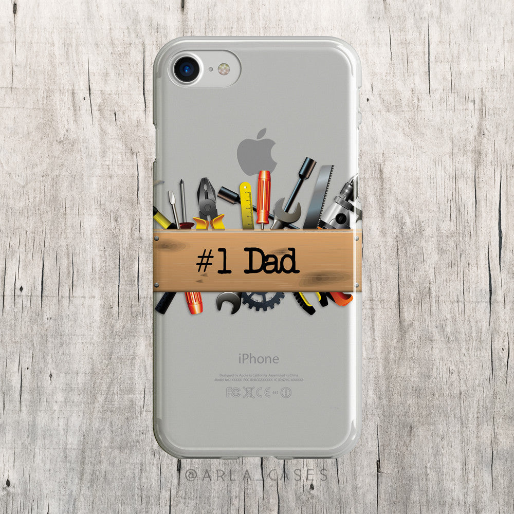 #1 Dad Printed on Clear iPhone Case