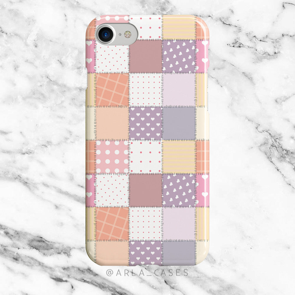 Patchwork Quilt on Clear Printed iPhone Case