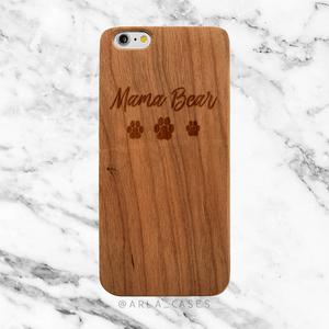 Mama Bear Wood iPhone and Galaxy Phone Case