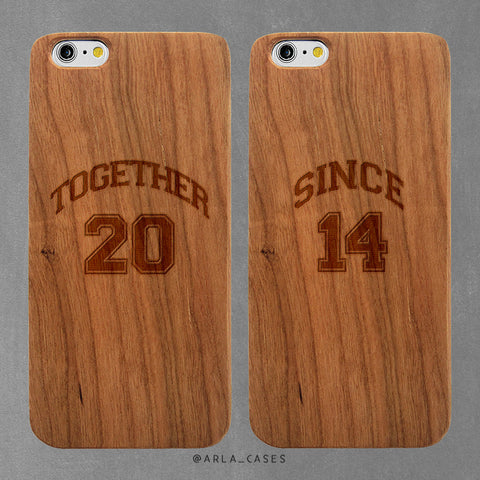 Custom Anniversary Date iPhone Case Set
