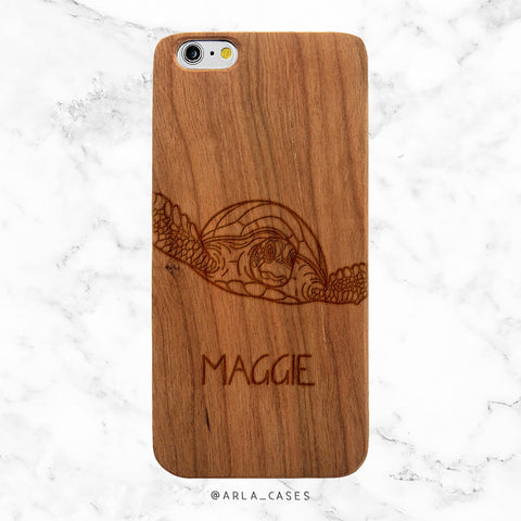 Custom Name Sea Turtle iPhone Case