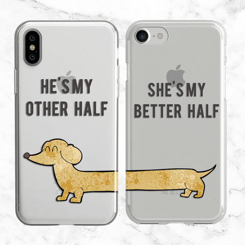 Couples Better Half Phone Case Set