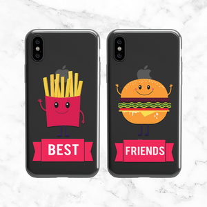 Best Friends Cheeseburger + French Fries Phone Case Set