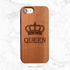 Queen Crown Wood Phone Case