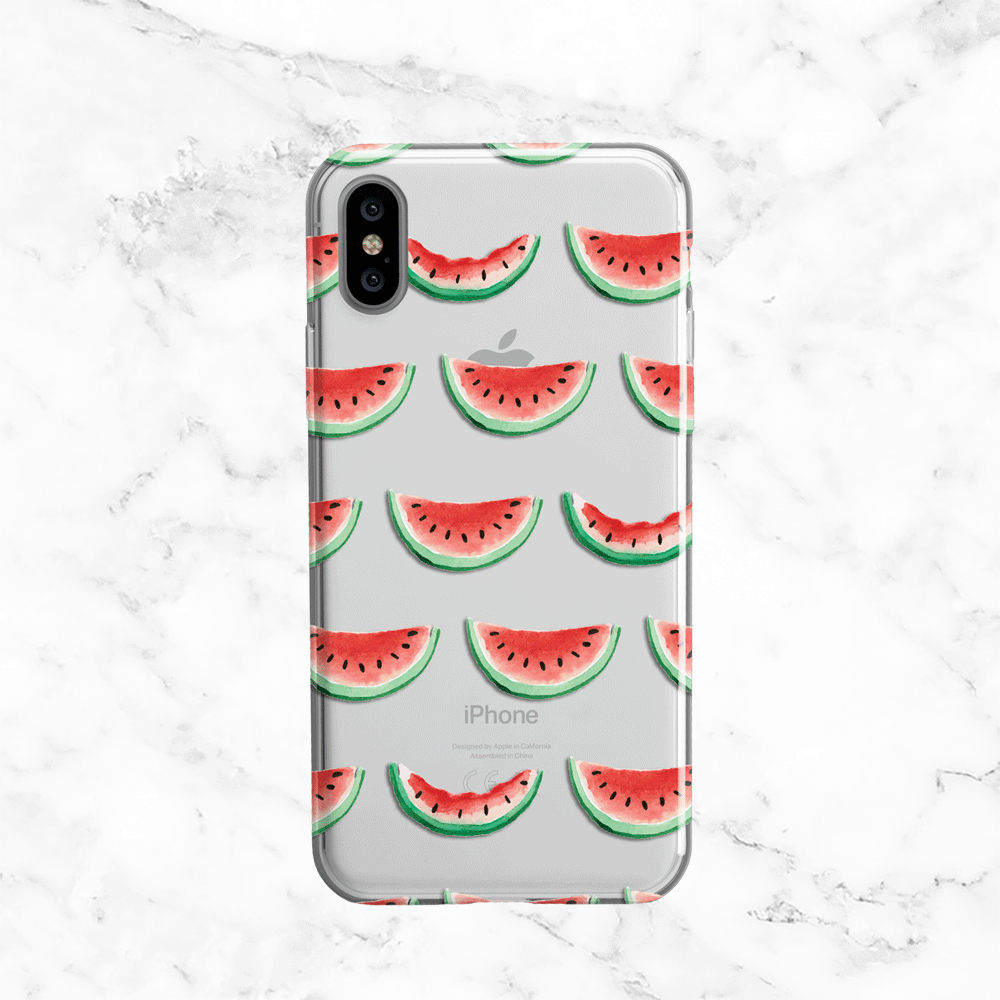 Watermelon - Clear Printed TPU Phone Case