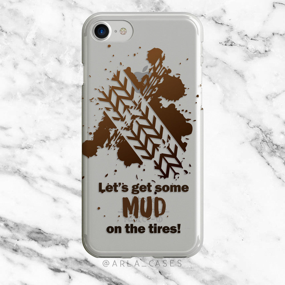 Mud on the Tires on Clear Printed iPhone Case