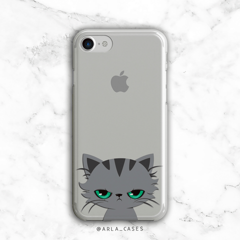 Grumpy Cat Clear iPhone and Galaxy Phone Case