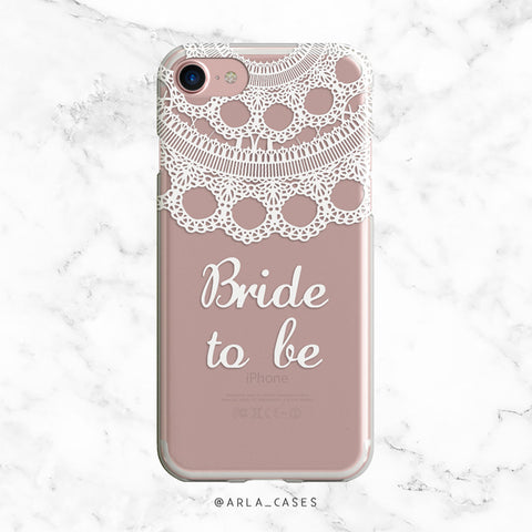 Bride to Be Lace iPhone Case