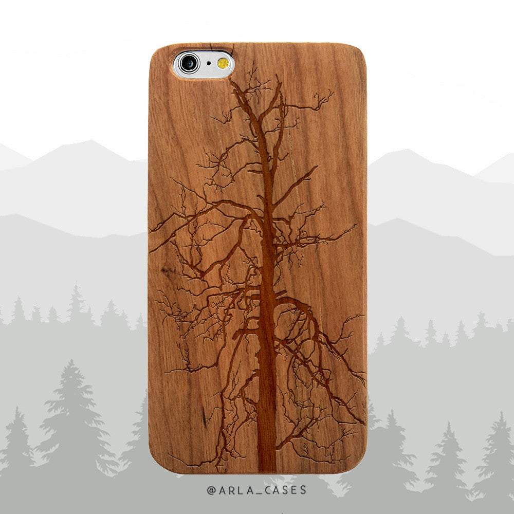 Bare Winter Tree Wood iPhone Case