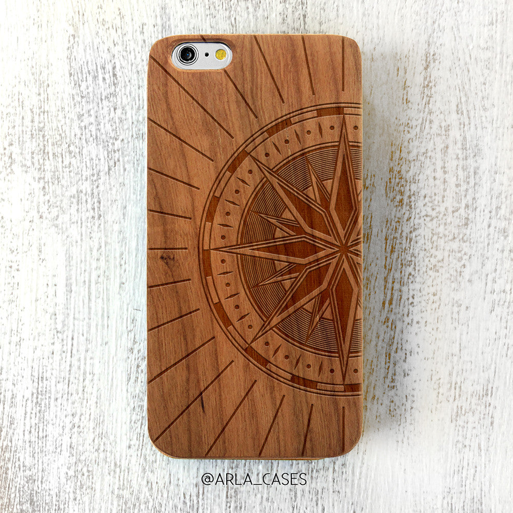 Compass Wood iPhone Case