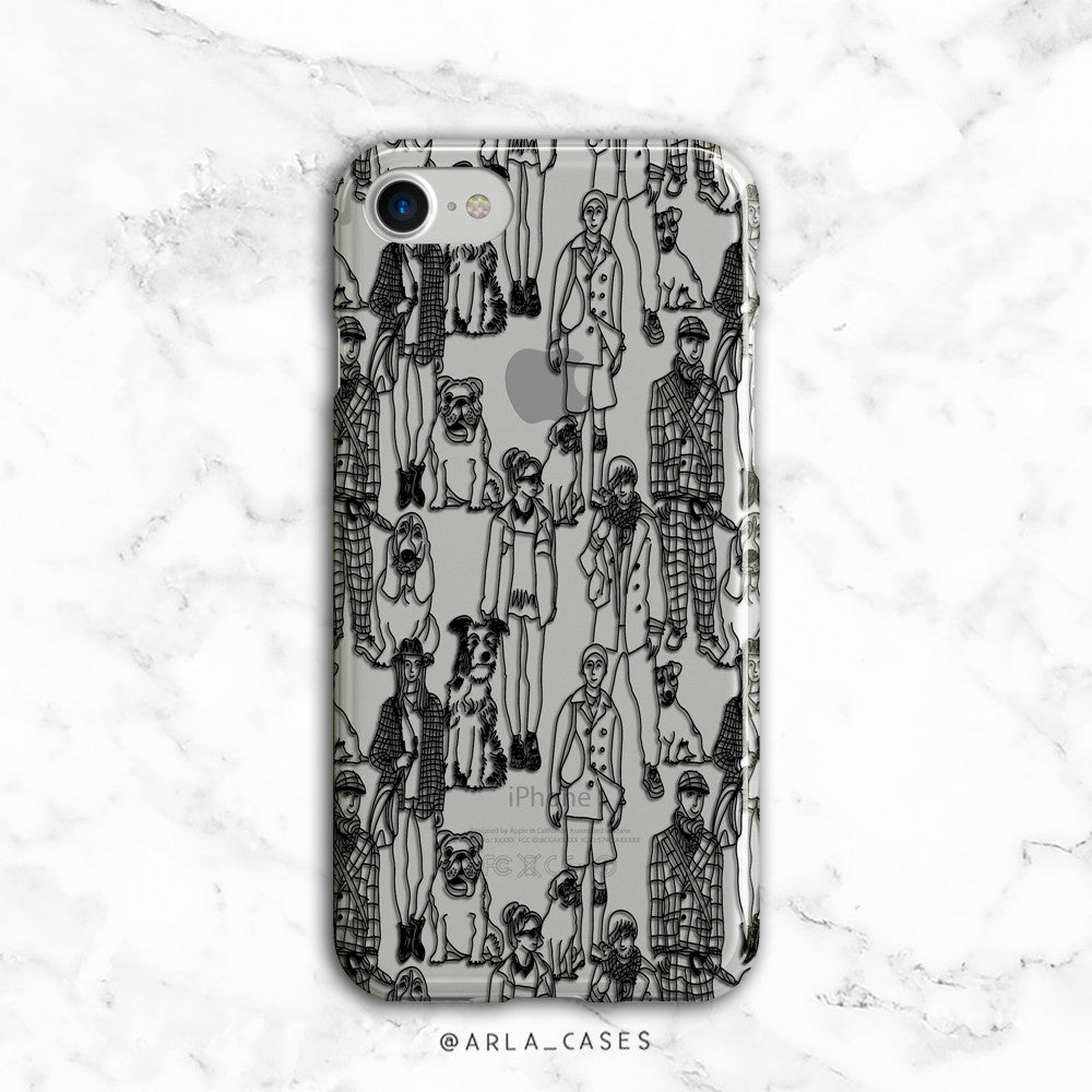 Dog Walker iPhone Case