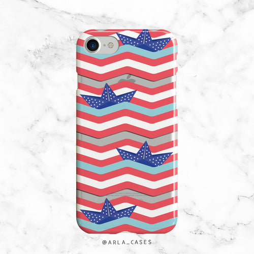 Stars and Stripes Phone Case - Clear TPU with Print