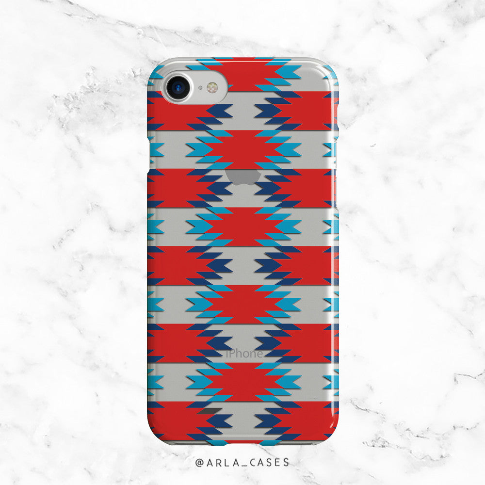 Patriotic Geometric Phone Case - Clear TPU with Print