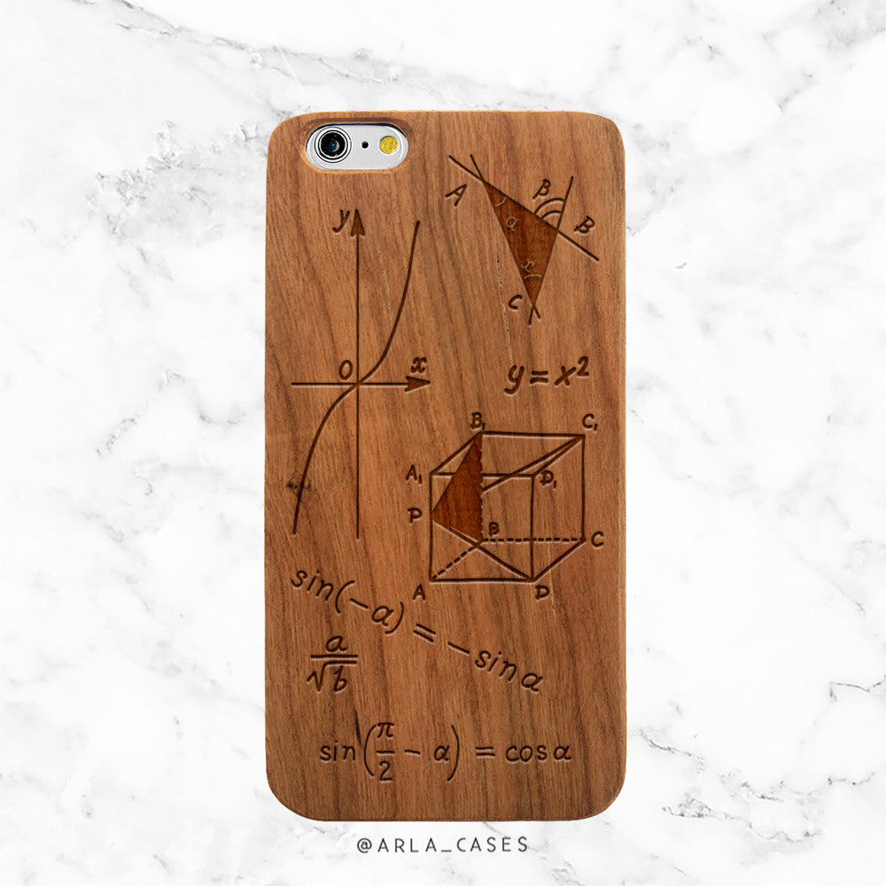 Geometry Wood iPhone Case