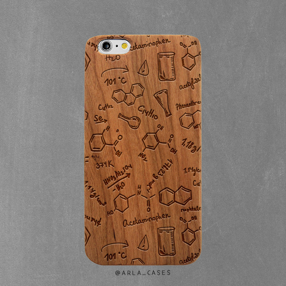 Chemistry Wood iPhone Case