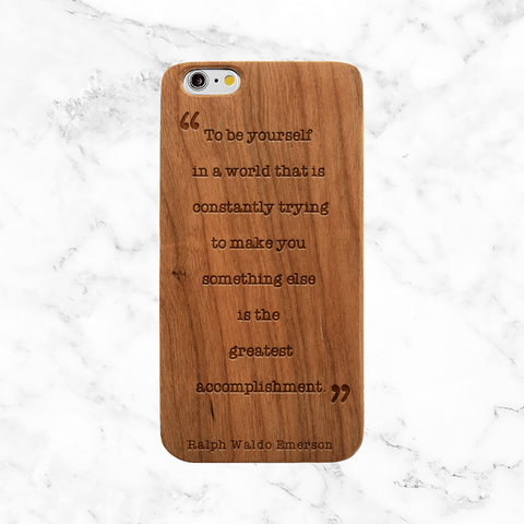 Coffee and Books - Wood Phone Case