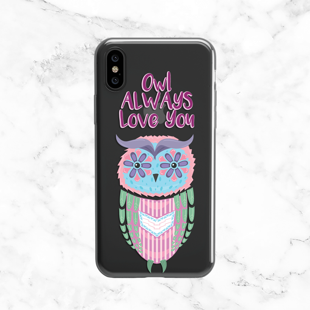 Owl Always Love You - Clear TPU Case for iPhone and Galaxy