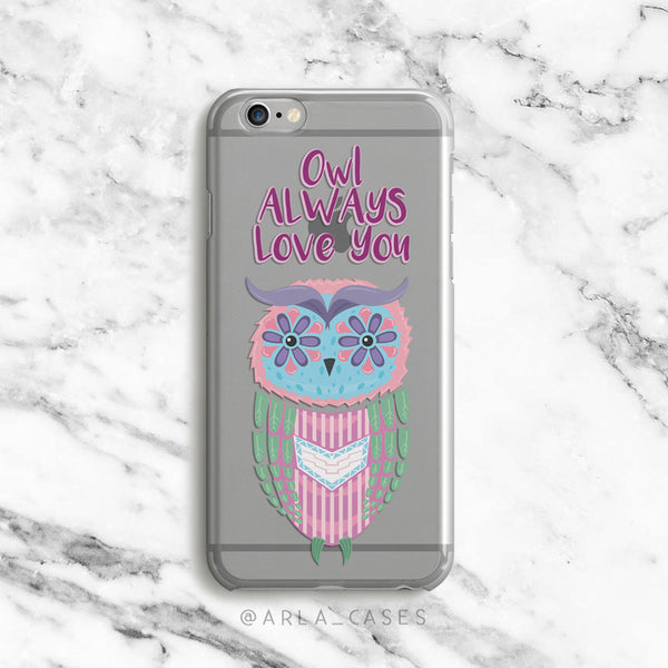 Owl Always Love You on Clear Printed iPhone Case