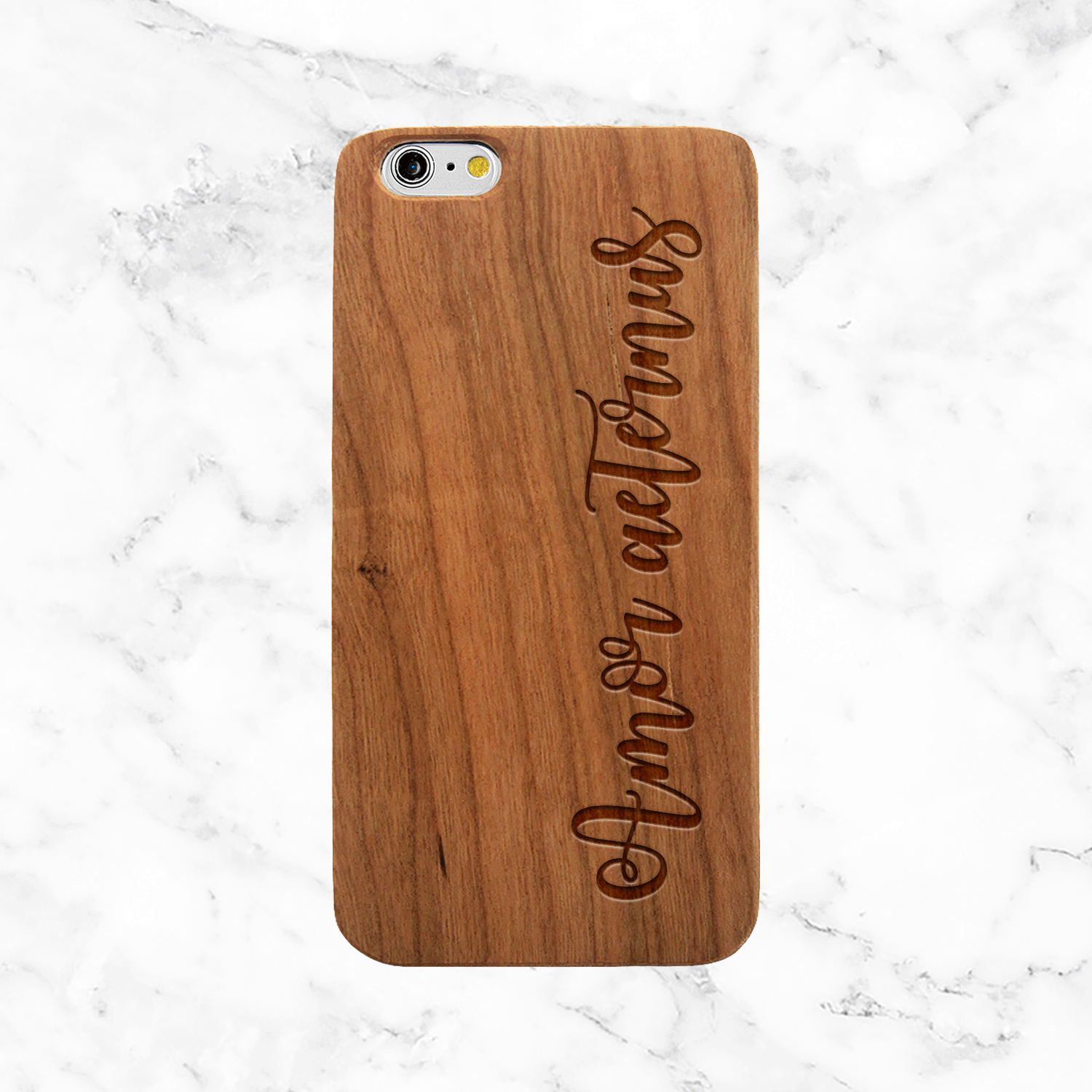 "Latin Quote Wood Phone Case ""Amor Aeternus"" Eternal Love - iPhone and Galaxy"