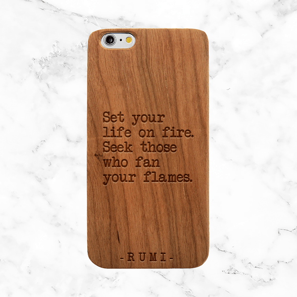 Rumi Quote - iPhone and Galaxy Wood Phone Case