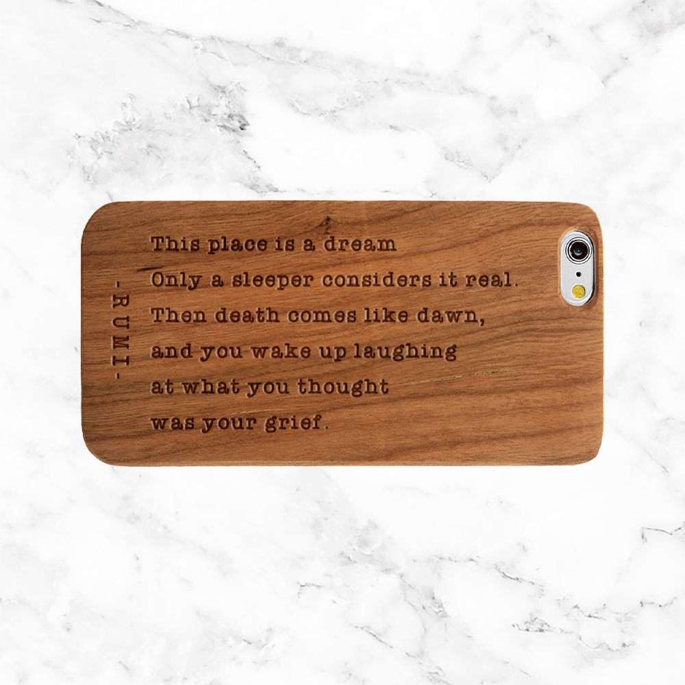Rumi Peace Quote - iPhone and Galaxy Wood Phone Case