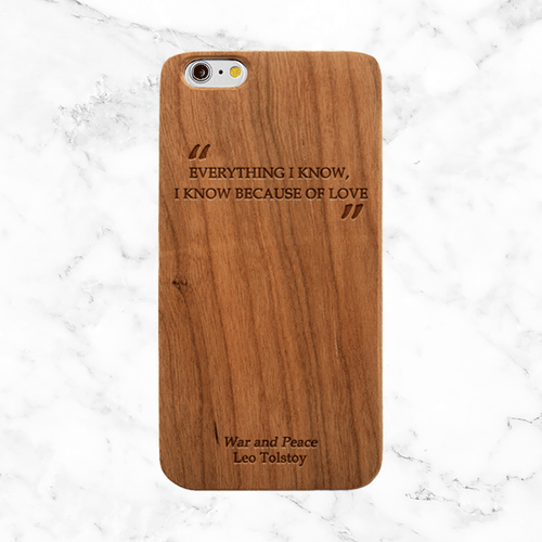 Leo Tolstoy War and Peace Quote - iPhone and Galaxy Wood Phone Case