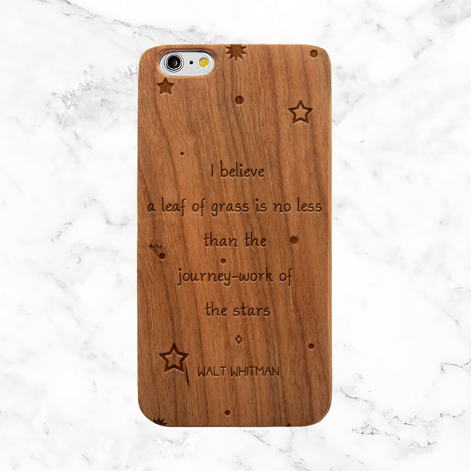 Walt Whitman Spiritual Quote - iPhone and Galaxy Wood Phone Case
